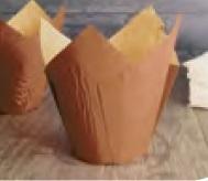 Muffin Tulip Gebäckkapseln braun bedruckt 5cm 1000St