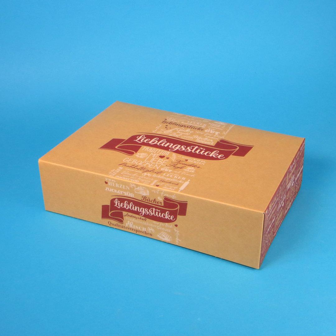 """Berlinerkartons Cakeboxen """"Lieblingsstücke"""" braun 31x22x8cm 100St"""