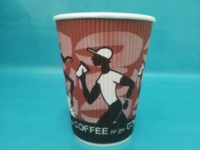 "Coffee Cup Riffelbecher ""Coffee Grabbers"" 12oz 300ml 500St"