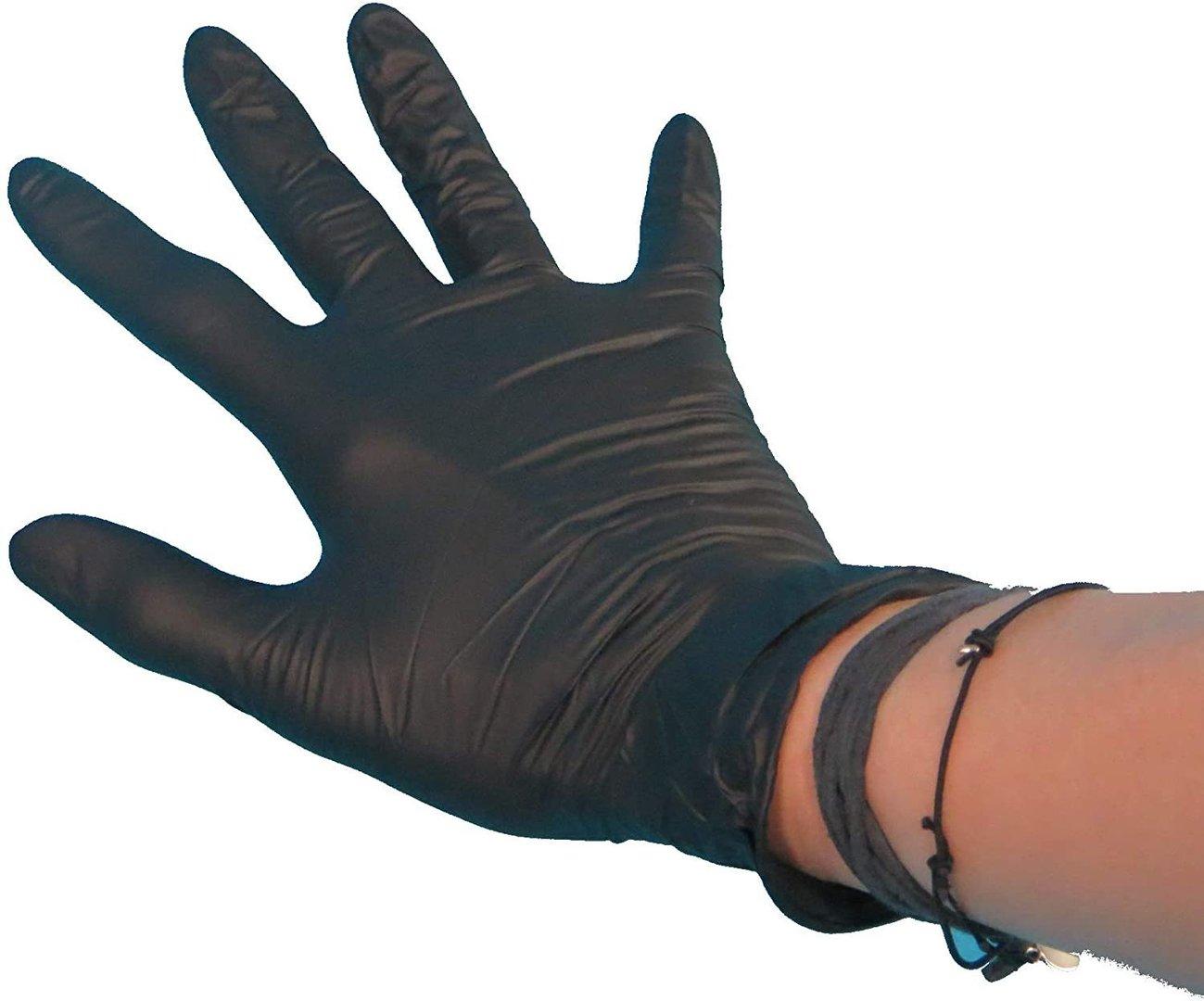 Einmalhandschuhe Latex ungepudert schwarz versch. Größen 100St.