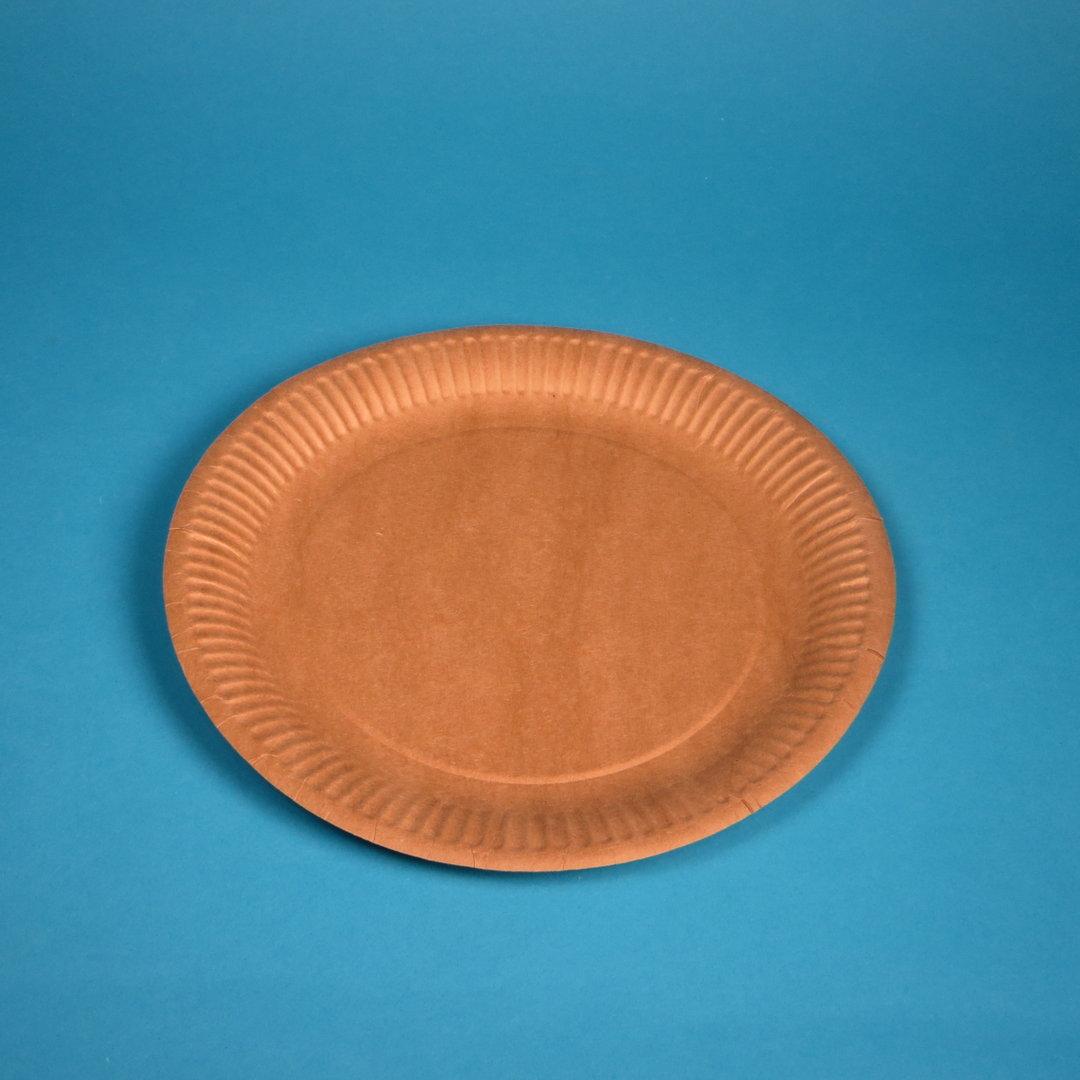 Bio Frischfaser Pappteller rund Ø23cm braun 500St
