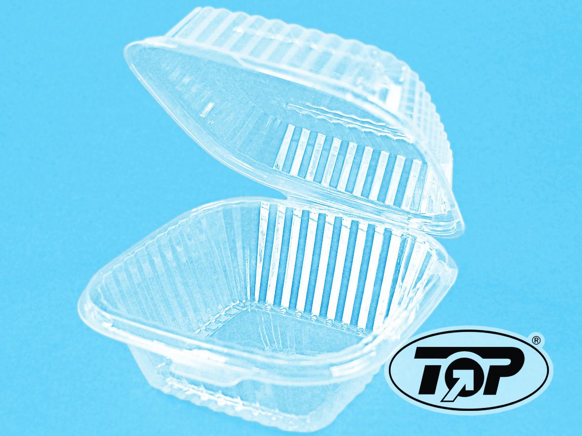 Klappbox 450+250ml OPS transparent 130x130x70mm 300St