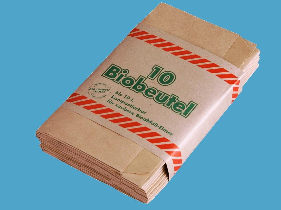 Papier Müllbeutel 10l kompostierbar 300St