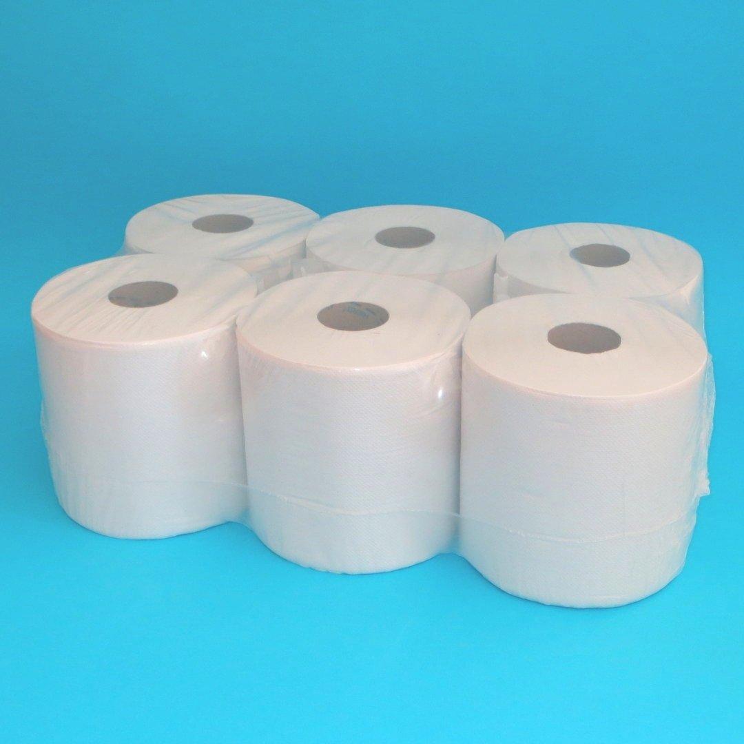Tissue Handtuchrollen 2lg 20cm 160m perforiert hochweiß 6St.