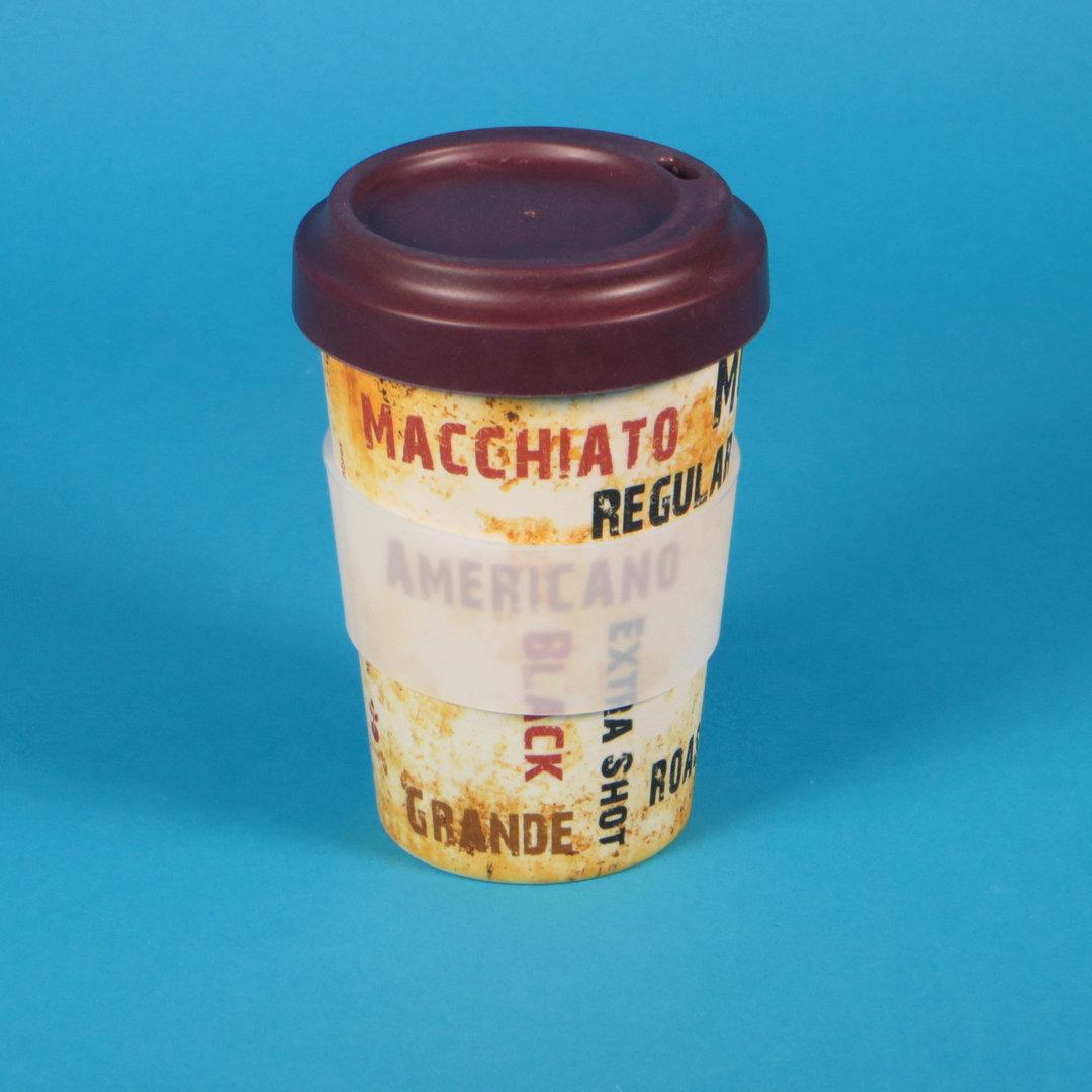 """Mehrweg Coffee to go Becher """"Barista"""" Bambus m. Deckel 1St"""