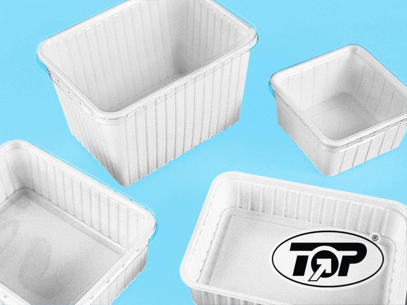 Verpackungsbecher Eurobox 1000ml weiß 400St.