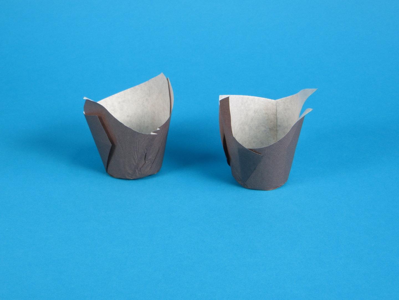 Muffin Tulip Cup Gebäckkapsel braun Boden 5cm 9cm hoch 1000St
