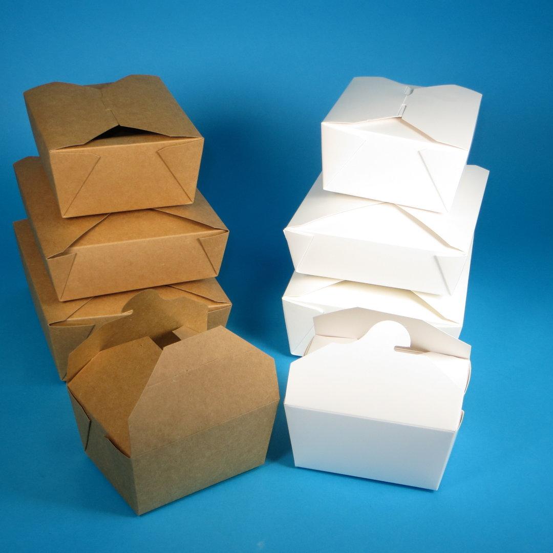 Foodboxen Hartpapier weiß oder braun versch. Größen