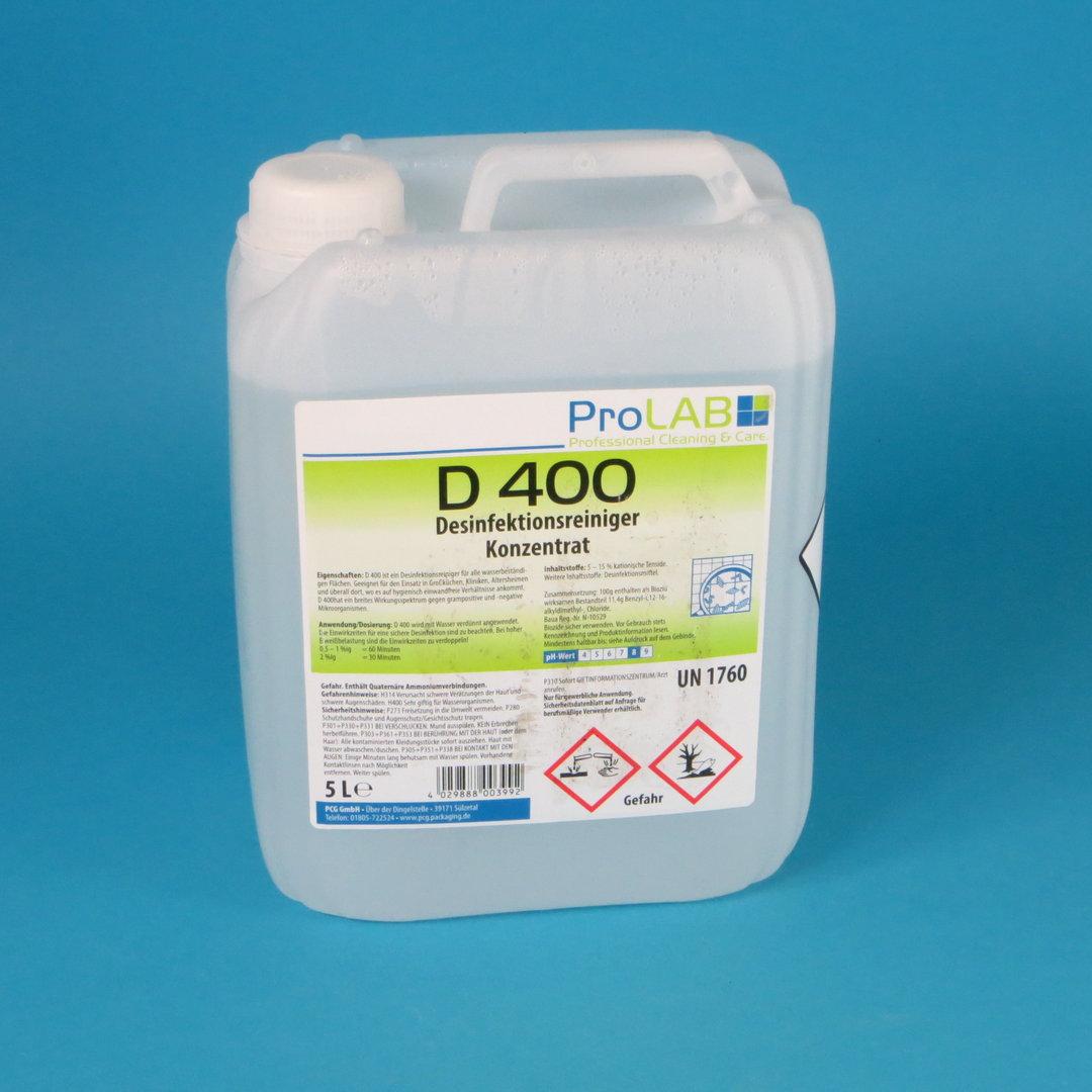 Pro Lab D400 Desinfektionsreiniger Konzentrat 5l Kanister