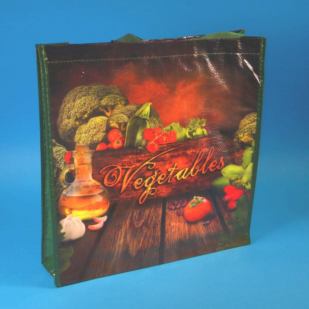 "PP Woven Tragetasche ""Vegetables"" 38x10x40cm 100St"