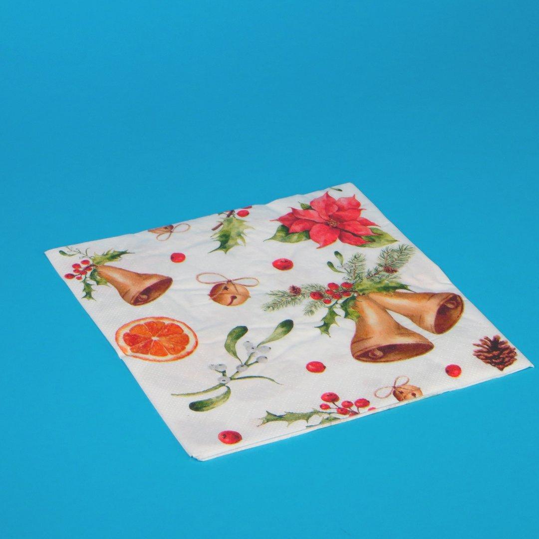 """Tissue Servietten Weihnachten """"Marianne"""" 40x40cm 3lg 1/4 1200St"""
