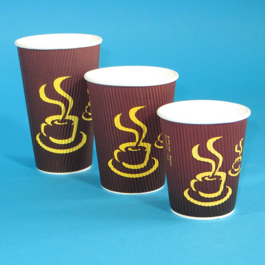 "Coffee Ripple Cup ""Hot Coffee"" 16oz 400ml 500St"