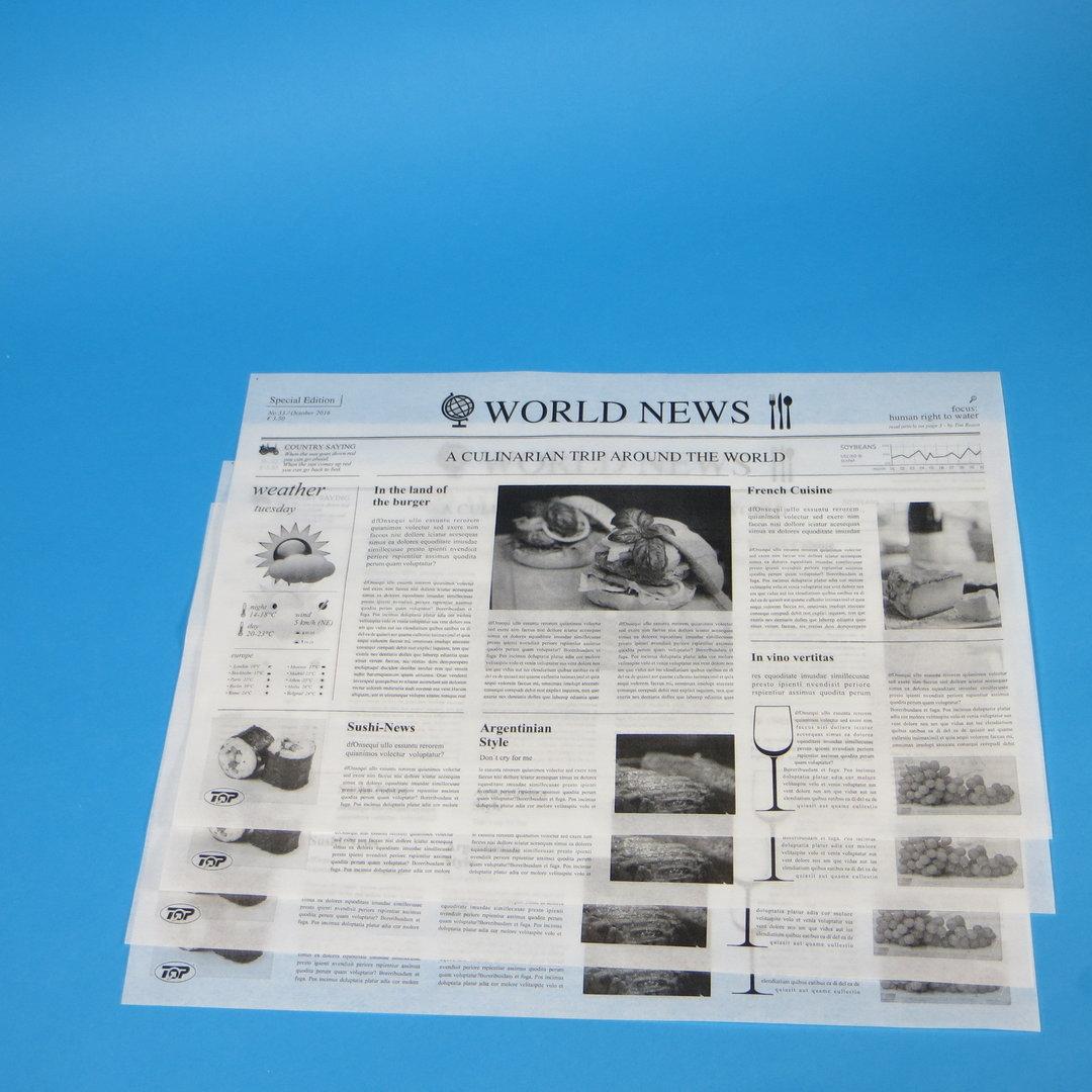 """Einschlagpapier fettdicht """"Zeitungsmotiv"""" 25x38cm 1000St"""