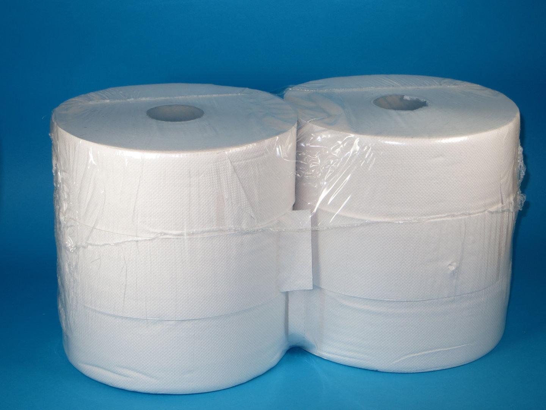 Toilettenpapier Großrolle weiß Tissue 2-lagig 350m 6Ro