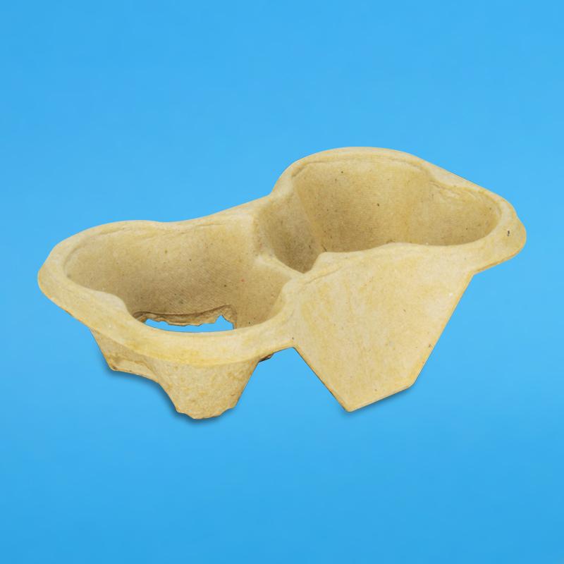 Bio Chinet Becherhalter für 2 Cups 600 Stück