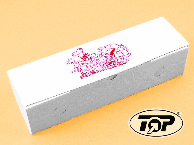 Pizza Rollo Box weiß mit Neutraldruck 7x8x28xm 200St.