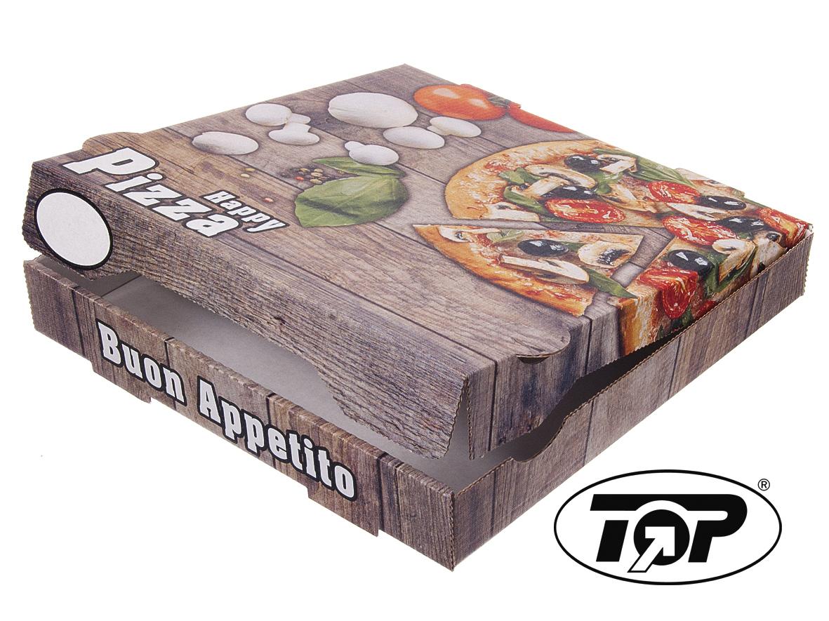 """Pizzakartons """"Happy Pizza"""" NYC 4,2cm hoch  100St versch. Größen"""