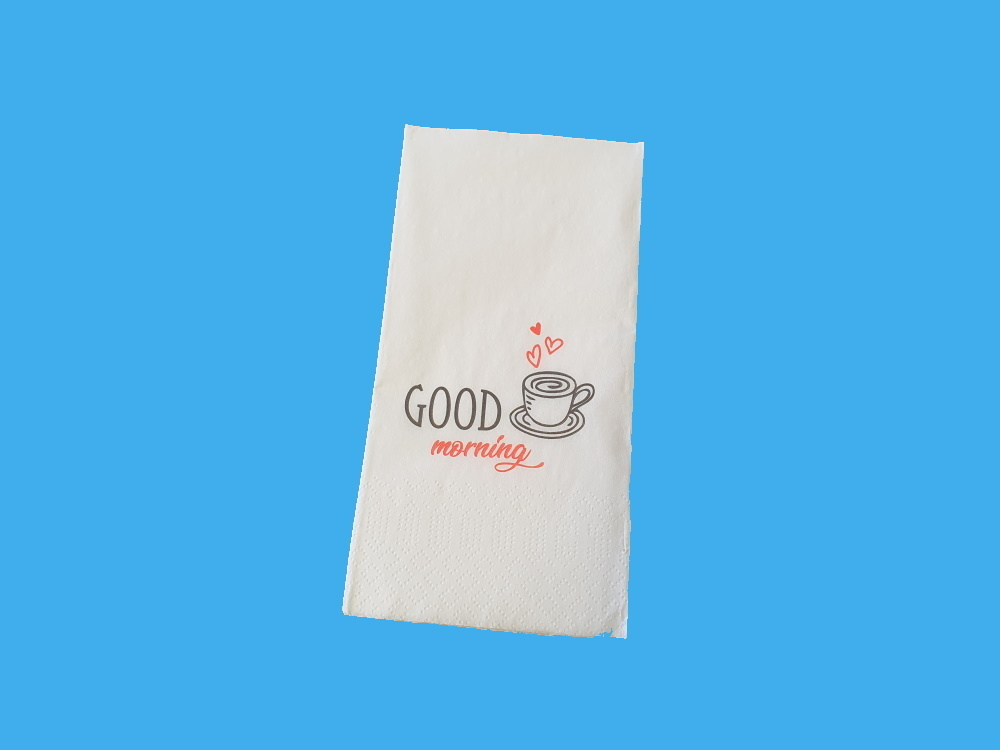 """Motivservietten """"Good Morning"""" Tissue 33x33cm 2lg 1/8 2000St"""