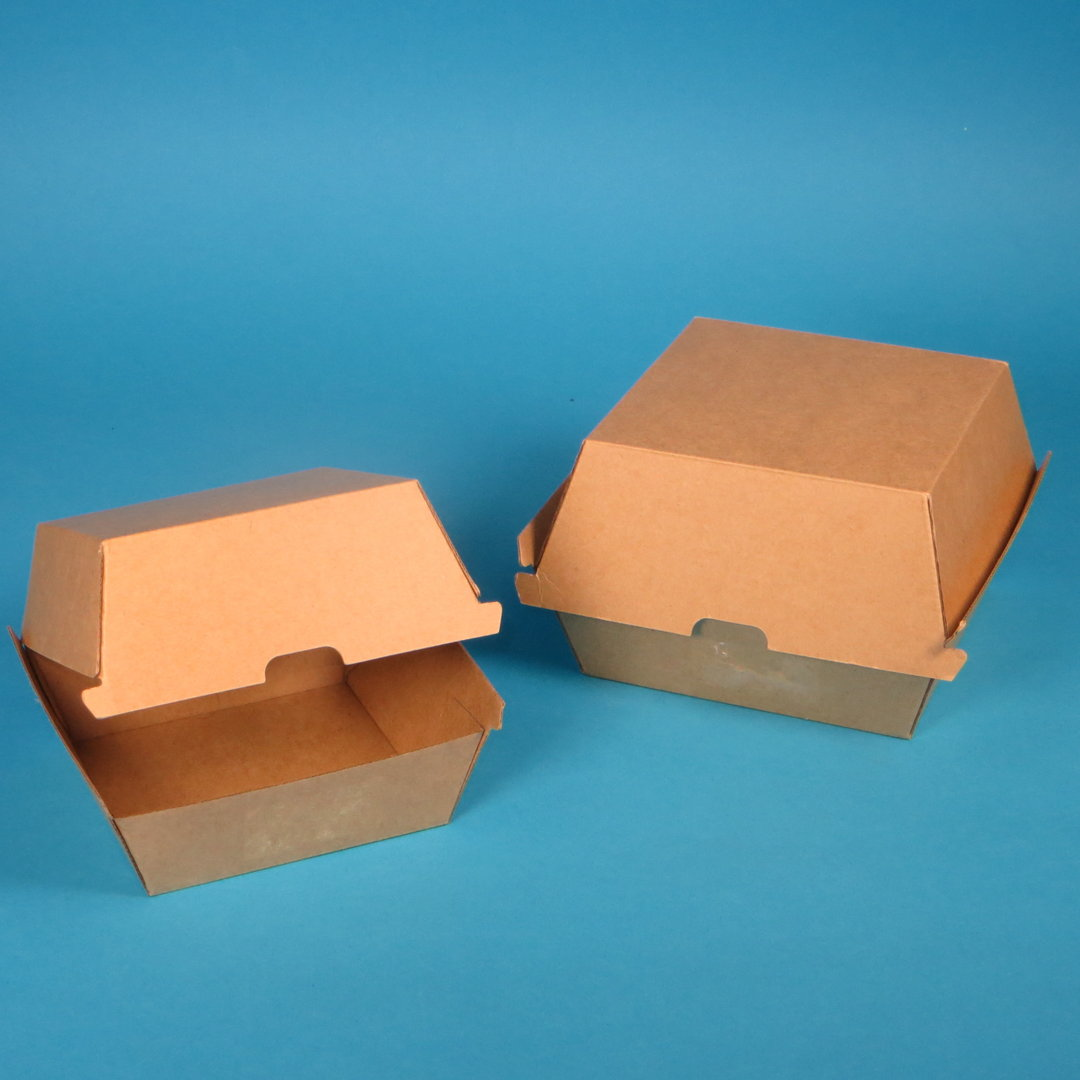 Bio Hamburgerbox XL braun Kraftkarton 150x150x95mm 200St