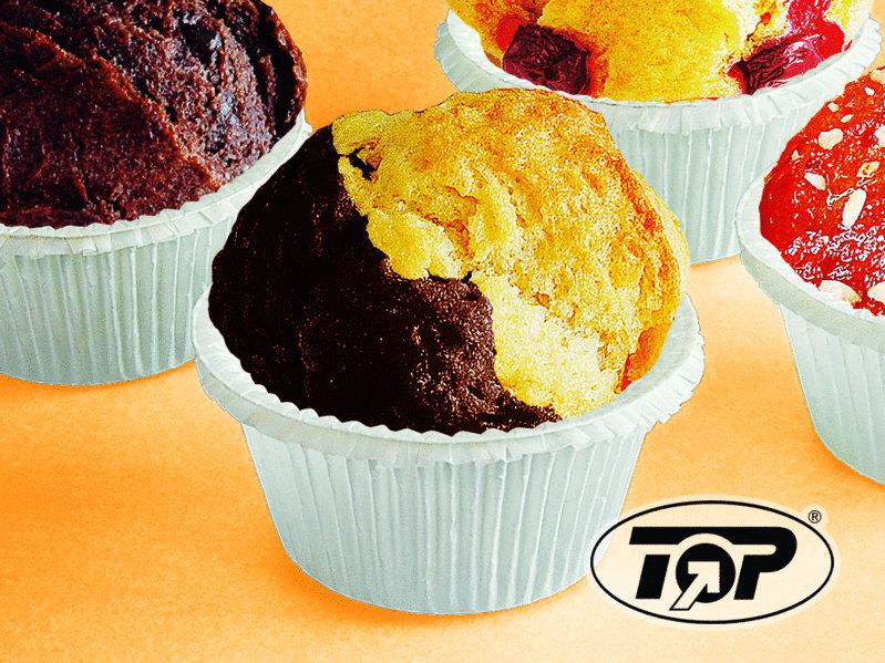 Muffin Back Tray für 24 Muffins 4OZ 100g 125St