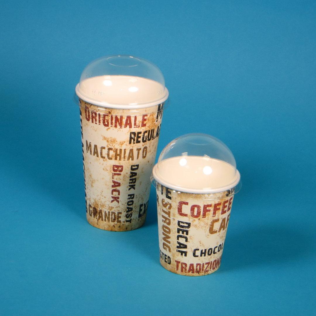 """Sparpaket 1000 Coffee to go Becher """"Barista"""" mit Domdeckel"""