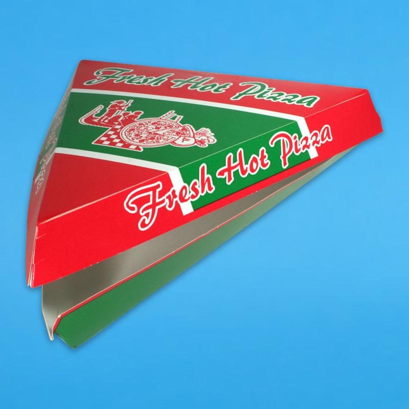 "Pizza Slice Kartons ""Fresh Hot Pizza"" 26x26x24cm  220St"
