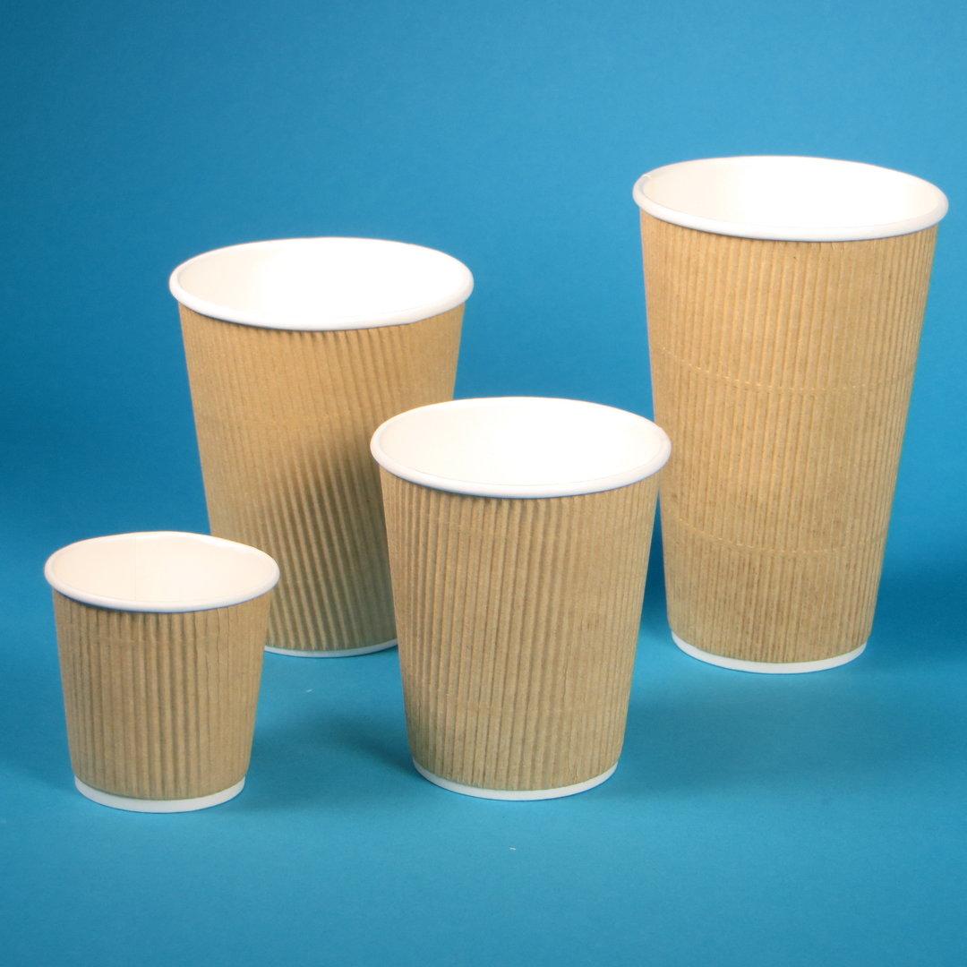 Bio Coffee to go Riffelbecher braun versch. Größen