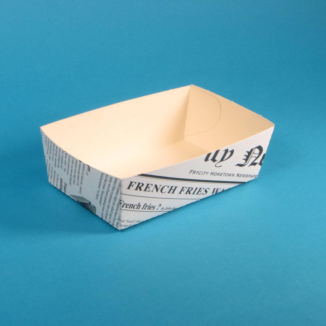 Snackschalen mit Zeitungsdruck Bio versch. Größen