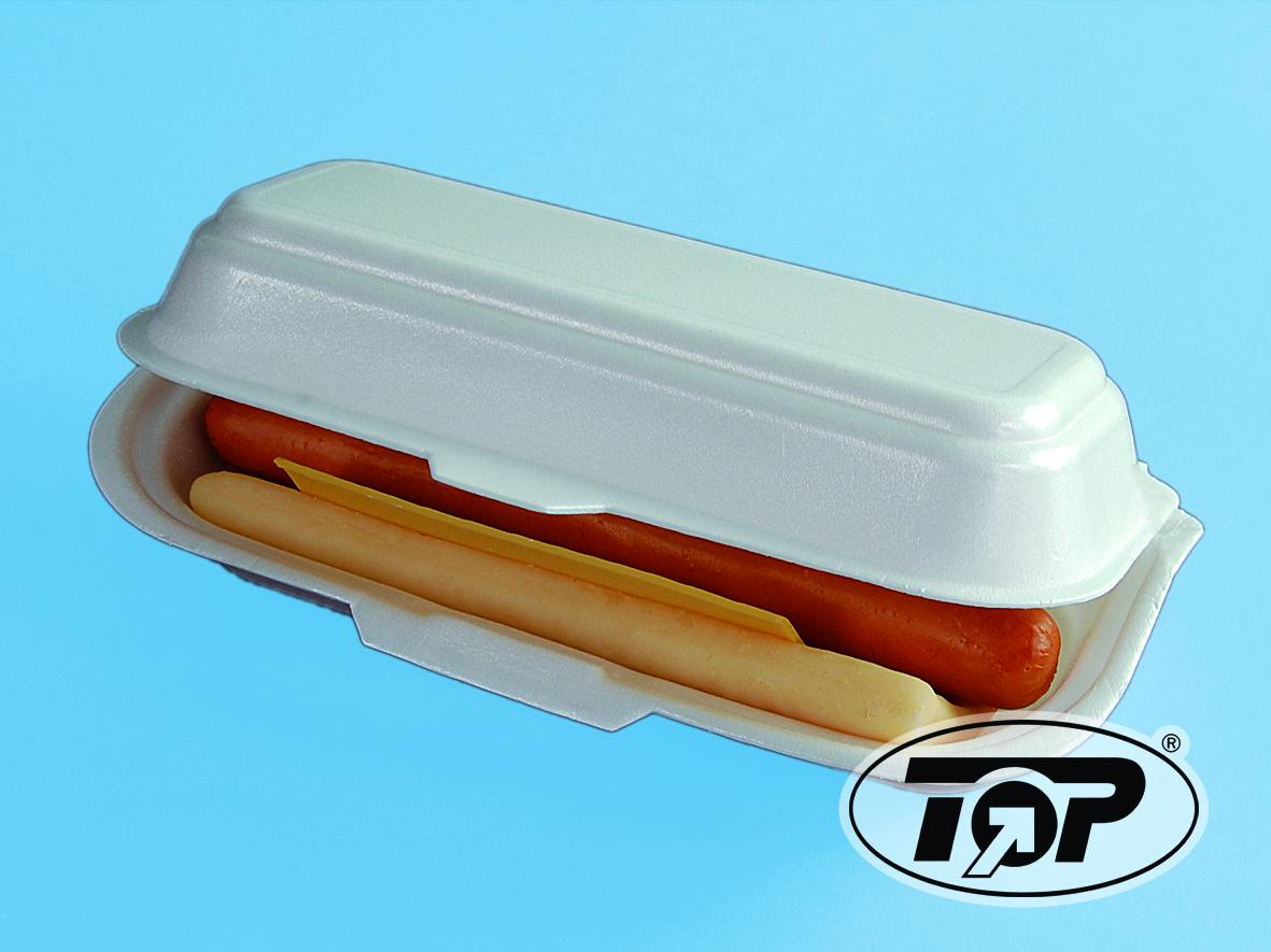 Hotdogbox HP7 geschäumt weiß groß 210x90x65mm 500St.