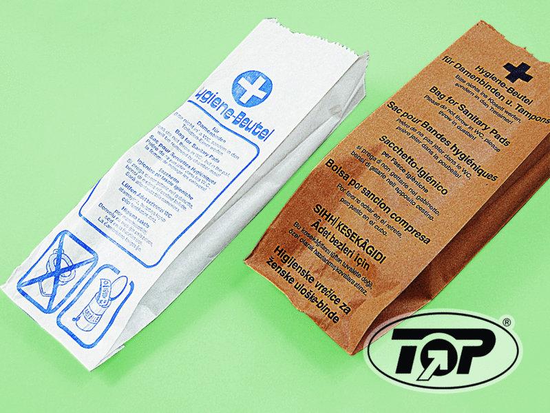 Hygienebeutel Cellulose weiß 11+6x32cm  1.000St.