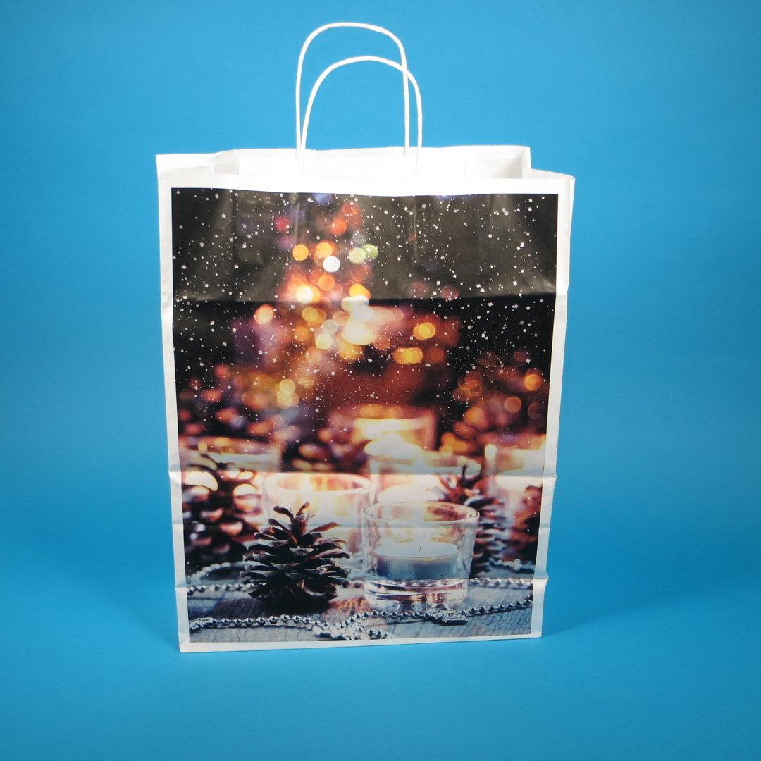 """Papiertragetaschen """"Advent"""" Kordel 32+12x42cm 250St"""