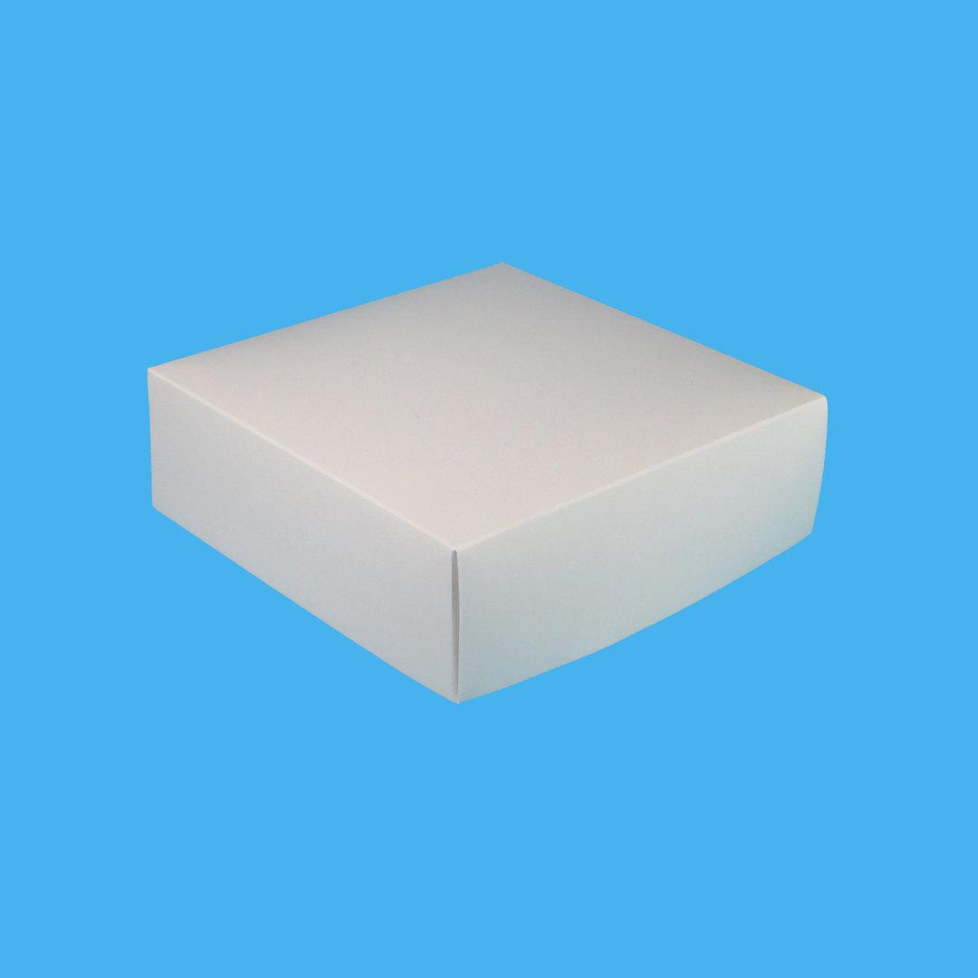Premium Cakebox Donutbox Frischfaser weiß 21x21x7cm 100St