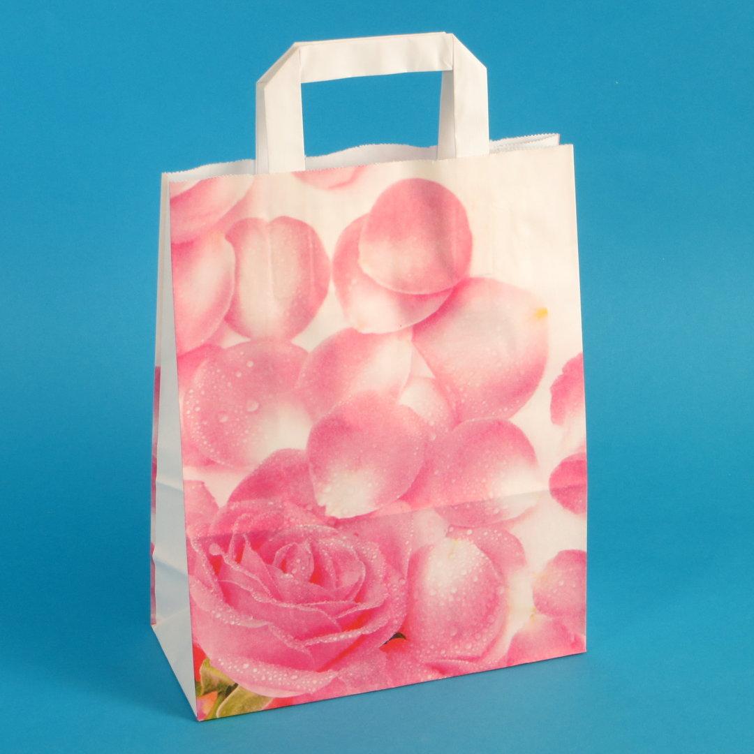 """Papiertragetaschen 22+10x28cm """"Pink Lady"""" 70g/m² 250St"""
