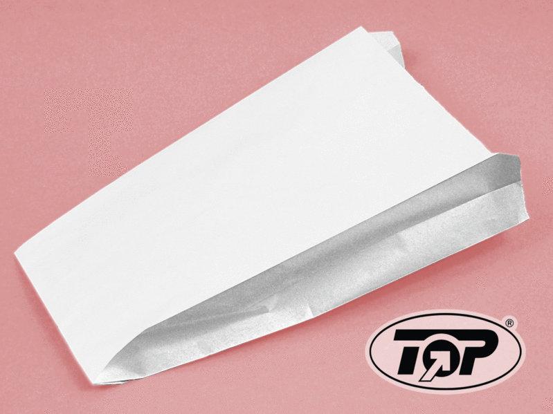 Faltenbeutel Pergamentersatz fettdicht weiß 12+5x23cm 1000St