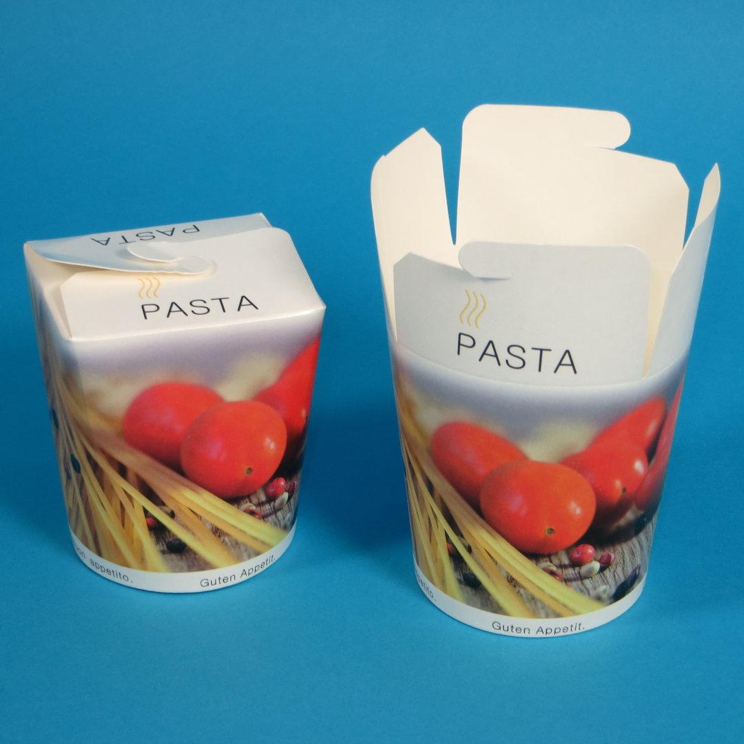 Pastabox weiß mit Neutraldruck 500St. versch. Größen