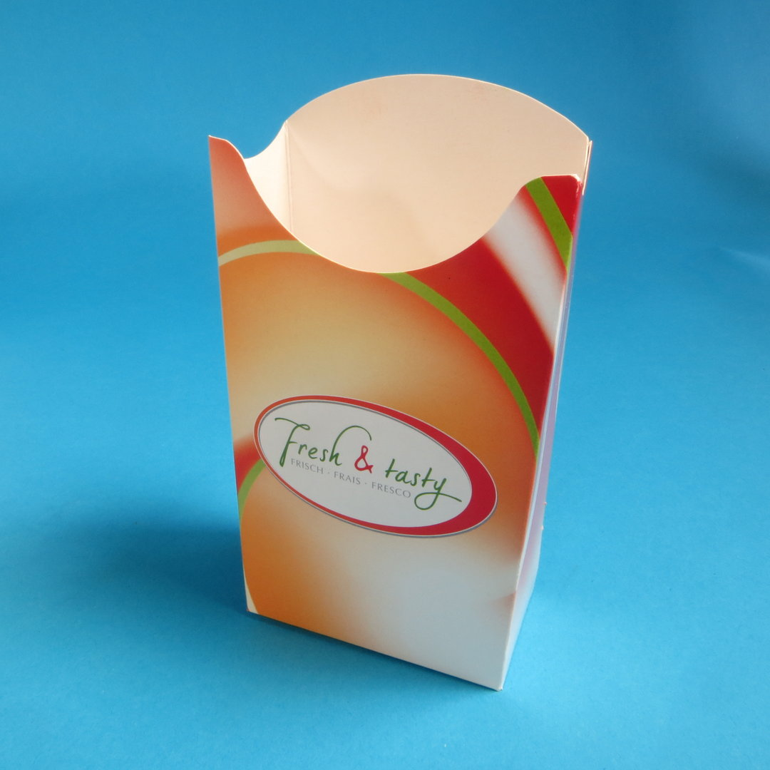 """Pommes Faltbox """"Fresh & Tasty"""" groß 500St."""