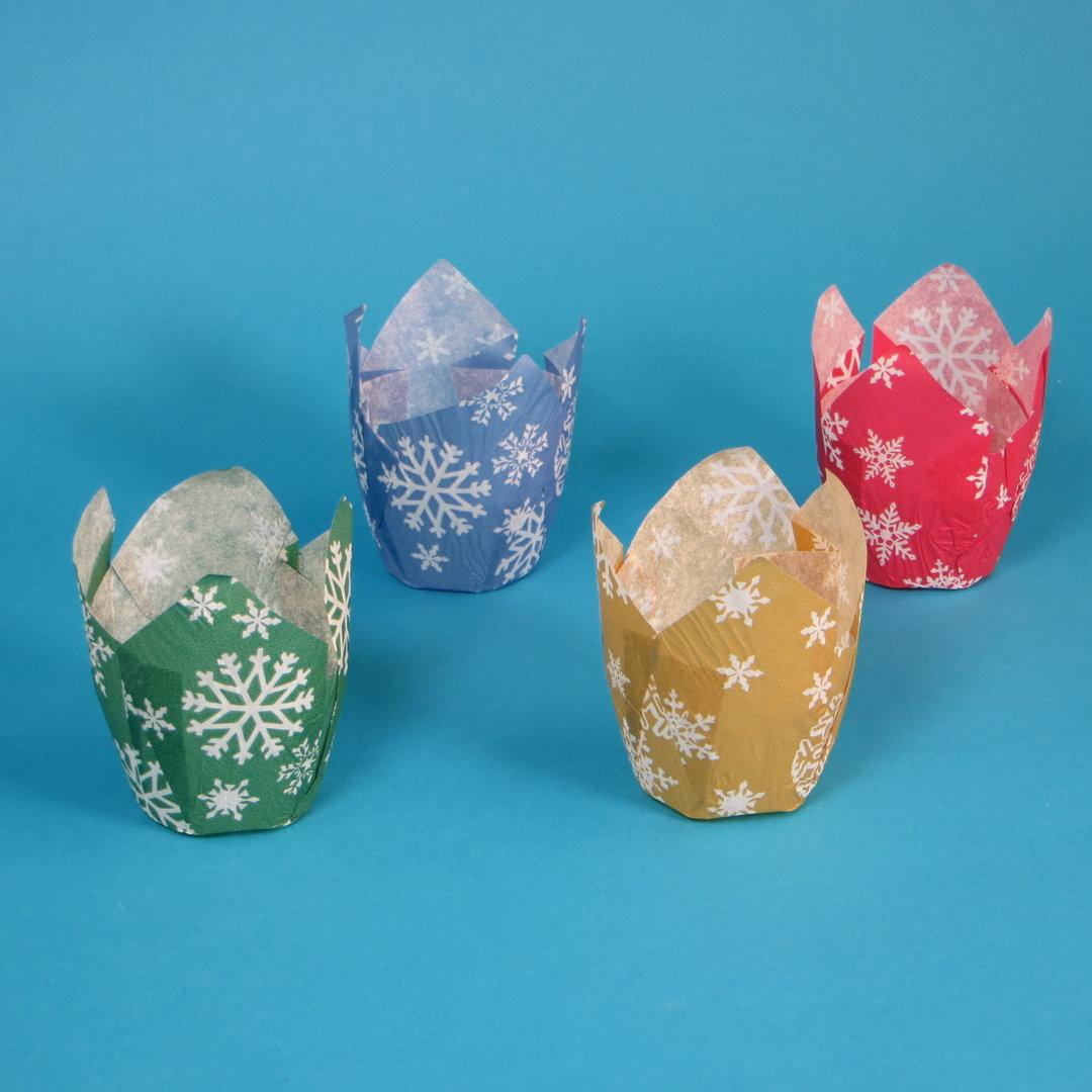 """Muffin Tulip Cups """"Weihnachten"""" Ø5cm 9cm hoch 4x250St"""
