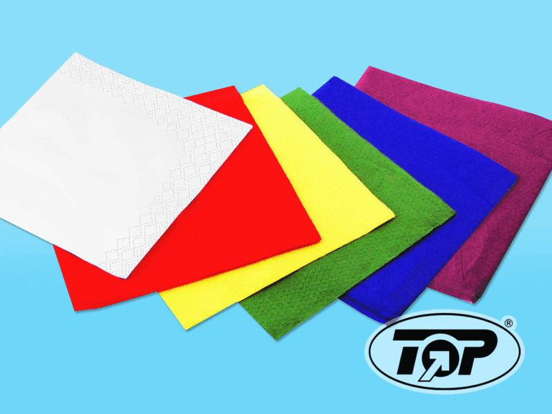 Zellstoffserviette 33x33cm 1/4 Falz 2-lg 1500St versch. Farben