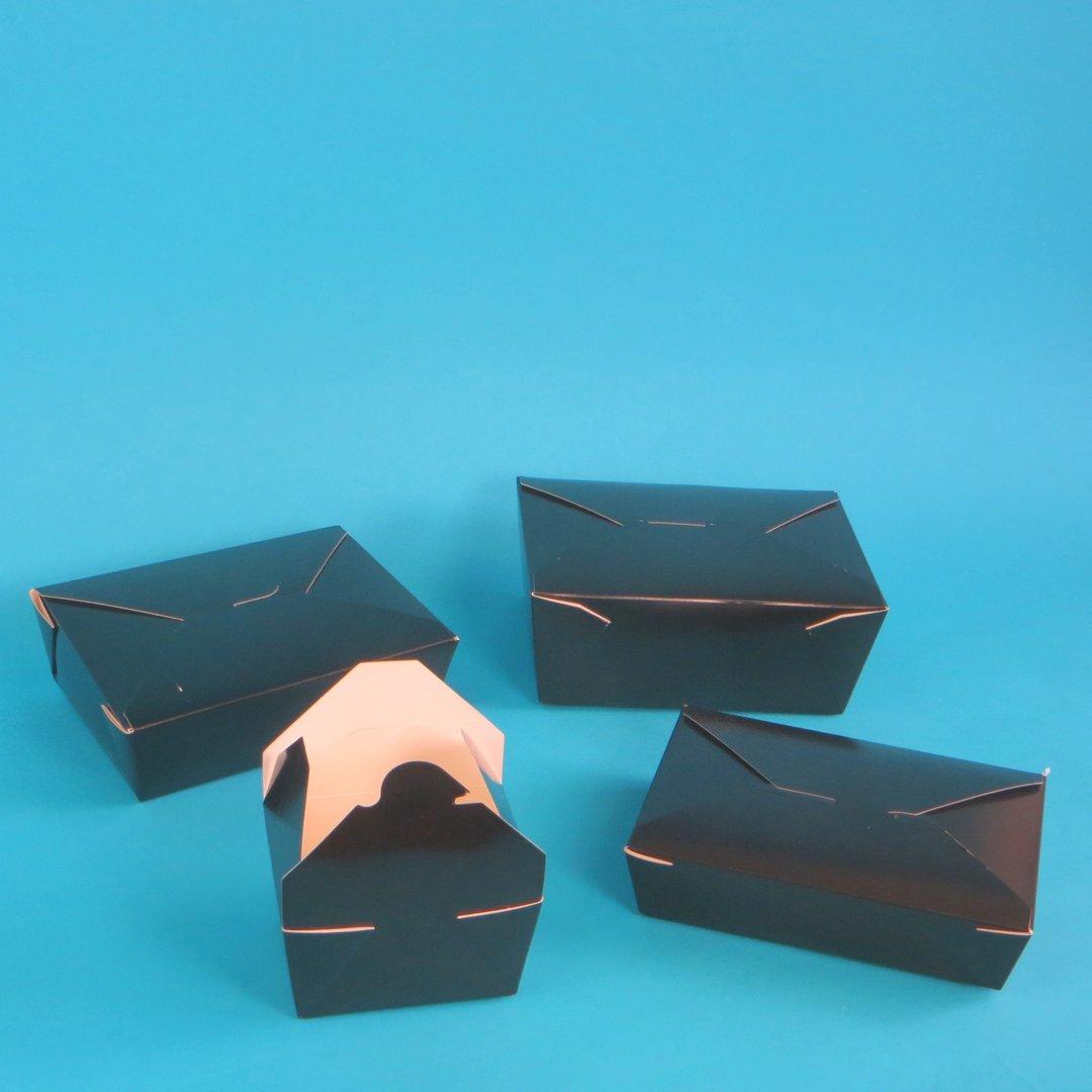 Foodcase Food Boxen schwarz fettdicht versch. Größen