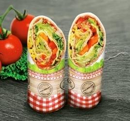 """Snack Wrap Bag 110x302mm Papier """"Fresh & Delicious"""" 500St"""
