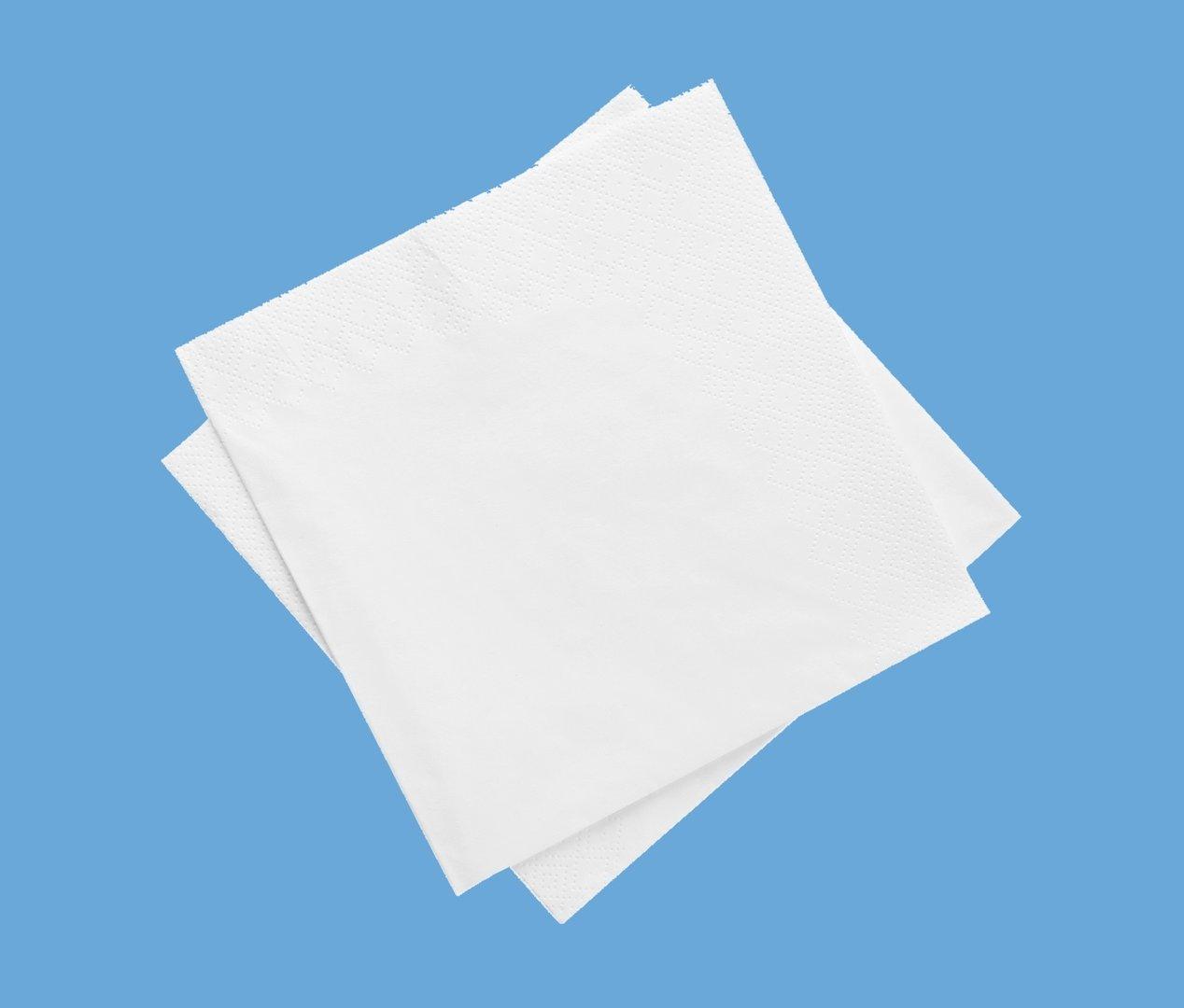 Cocktailservietten Tissue 24x24cm 1/4 2-lagig 2400St