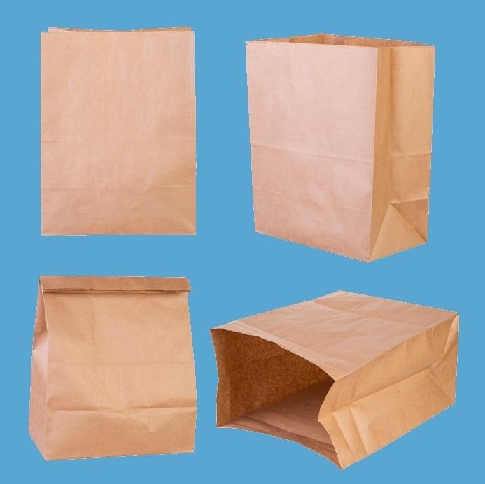 Blockbodenbeutel Lunchtüte braun ohne Henkel 26+17x35cm 500St
