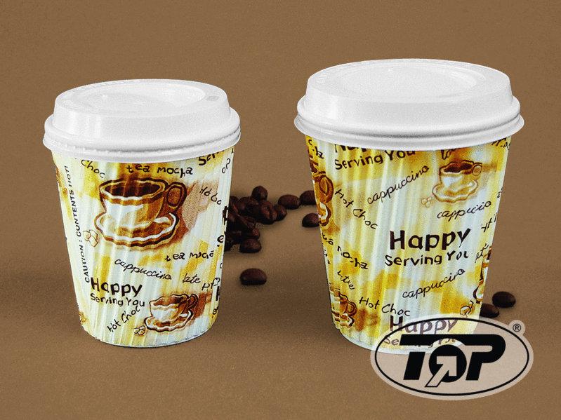 "Coffee Cup ""Ripple"" Riffelbecher 16oz 400ml 500St"