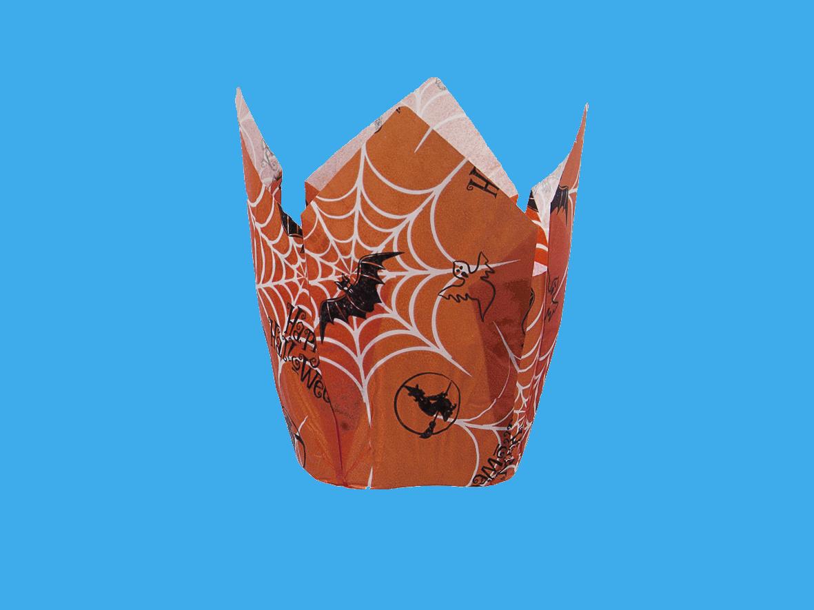 """Muffin Tulip Cups """"Halloween"""" Ø5cm 9cm hoch 1200St"""