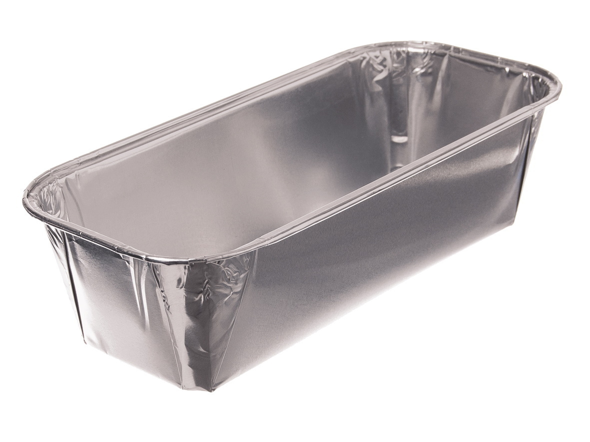 Einwegbackformen Aluminium eckig 203x94x53mm 200St.