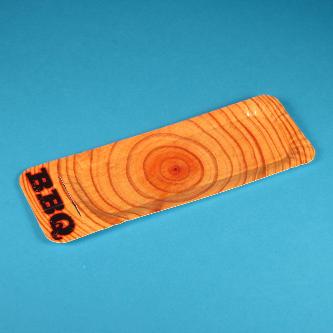"Pappteller PREMIUM m. Anfasser ""Real Wood"" 20+3x8cm 250St"