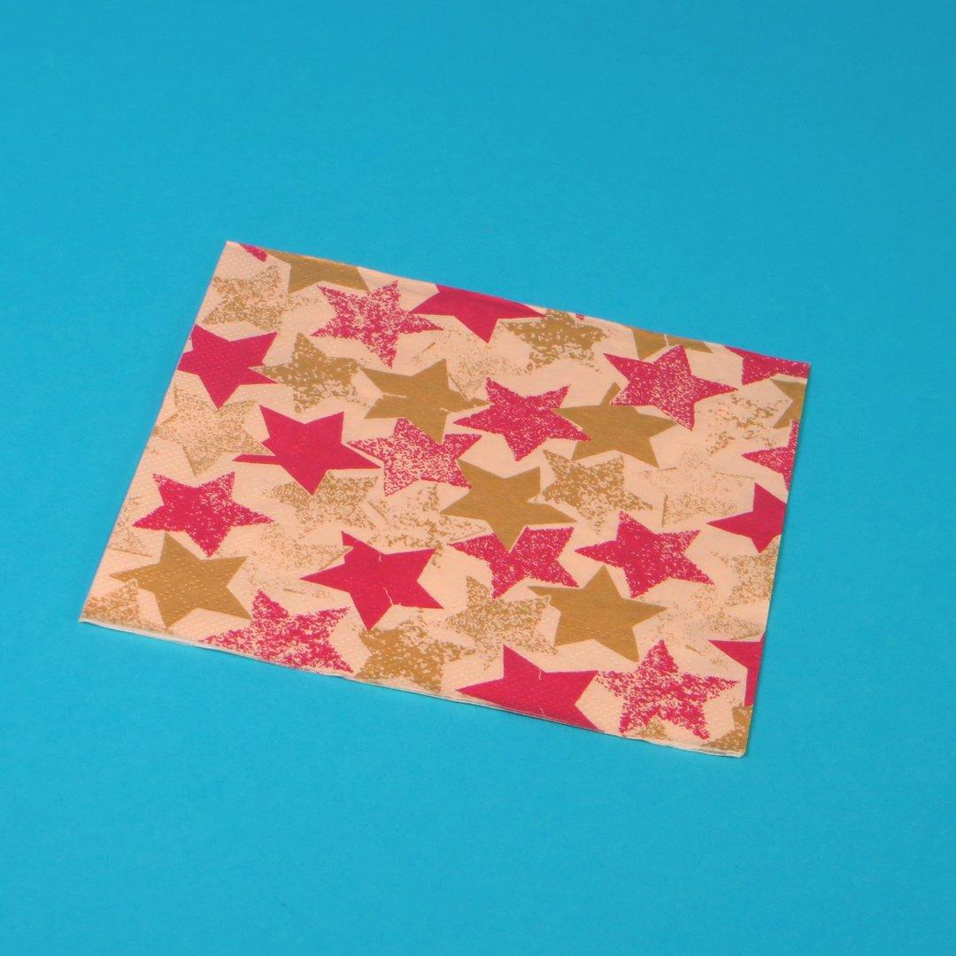 """Tissue Servietten Weihnachten """"Levi"""" 33x33cm 3lg 1/4 800St"""