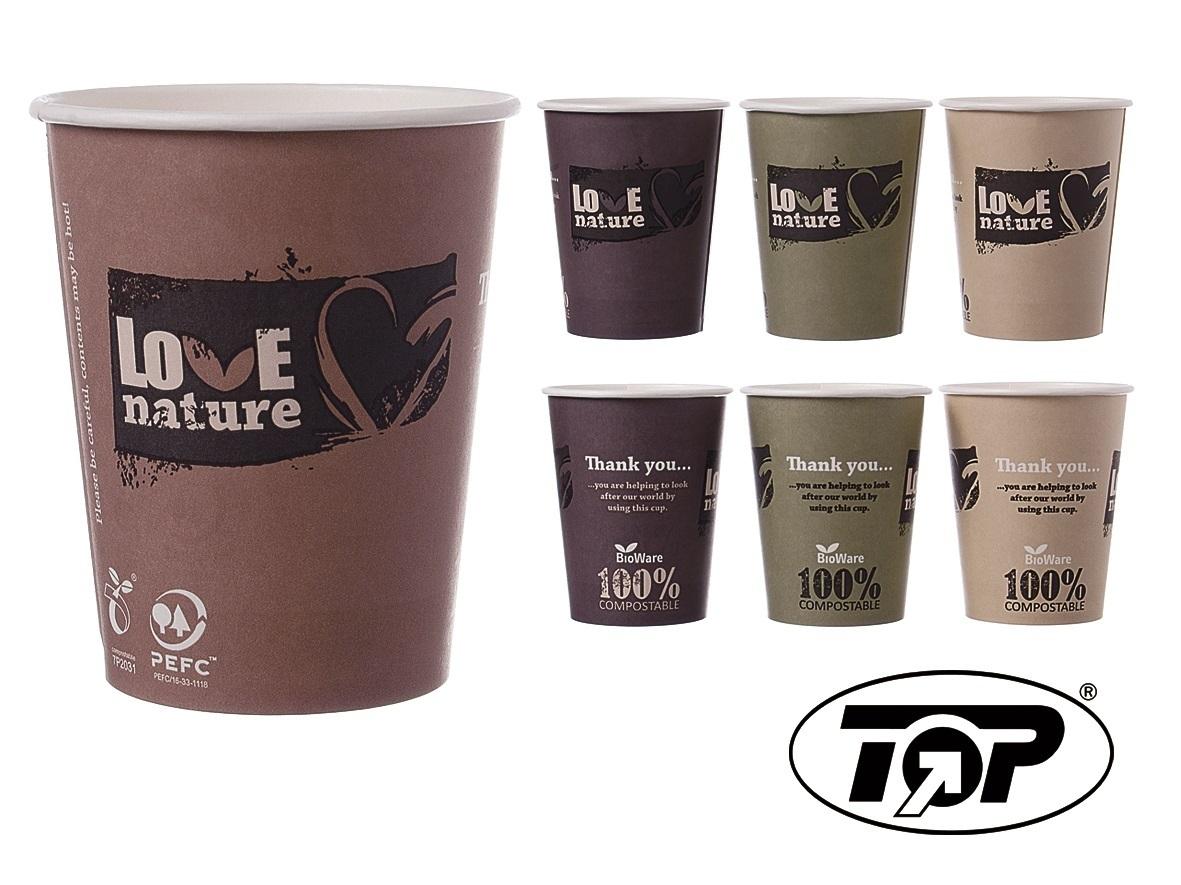 """Bio Coffee to go Becher """"Love Nature"""" versch. Größen"""