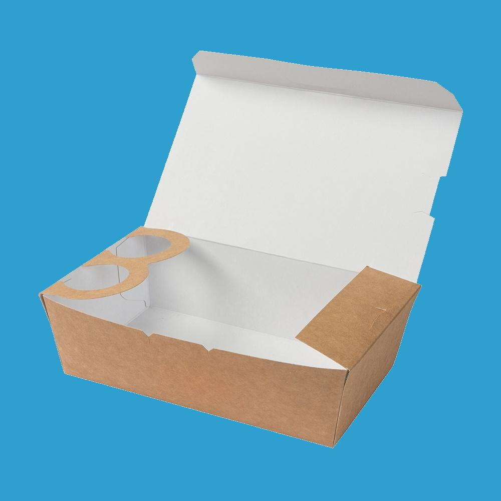 Bio Snackboxen mit Diphalter 19x11,5x5,3cm 900ml 250St