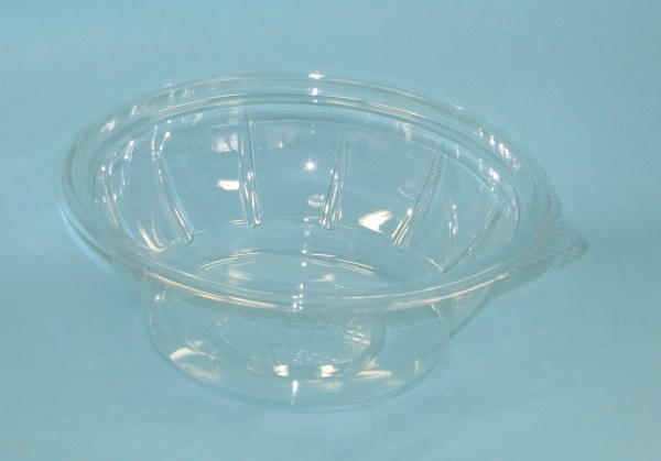 Salatschale 500ml rund glasklar PET 600St
